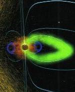 Взаимодействие магнитосферы и солнечной вспышки