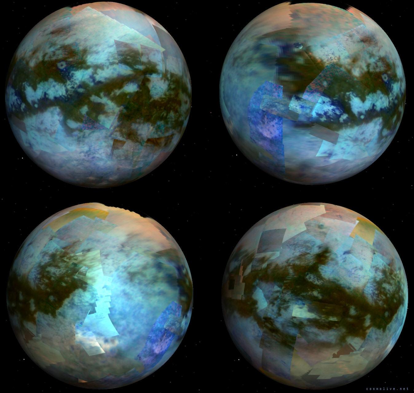 Гигантские облака на Титане (2 фото)