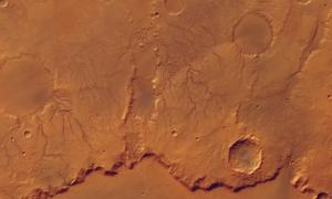 """Rim of Huygens Crater"""